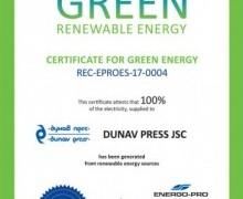 Certificate of green energy